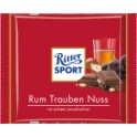 RitterSport Rum-hrozny-ořechy, 100g