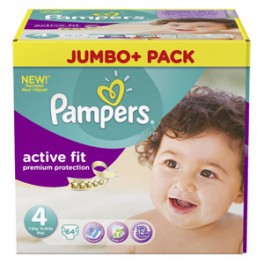 Pampers Active fit 7-18kg, 64ks